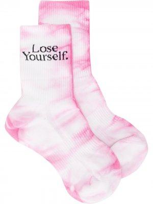 Носки Lose Yourself с принтом тай-дай Paco Rabanne. Цвет: розовый