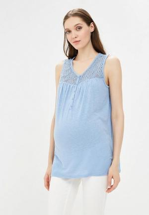 Майка Gap Maternity. Цвет: голубой