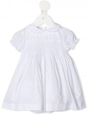 Платье со вставками Siola. Цвет: белый