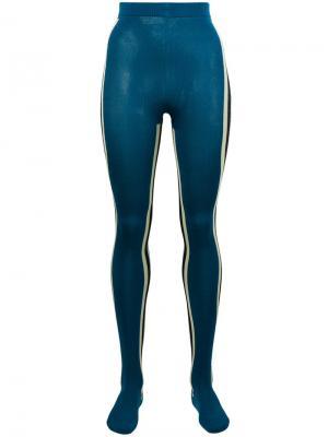 Колготки с полосками по бокам Calvin Klein 205W39nyc. Цвет: синий