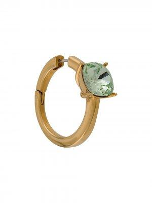 Серьга-кольцо с камнем AMBUSH. Цвет: золотистый
