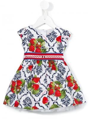 Платье с принтом Monnalisa. Цвет: разноцветный
