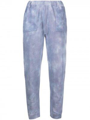 Спортивные брюки с принтом тай-дай LoveShackFancy. Цвет: синий
