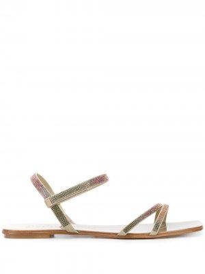 Декорированные сандалии Kairi Pedro Garcia. Цвет: золотистый