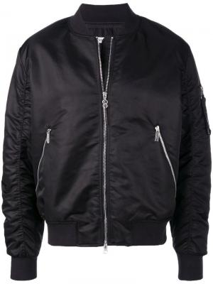 Zipped sleeve bomber jacket Dirk Bikkembergs. Цвет: черный