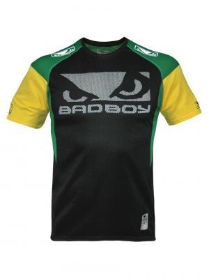 Футболка Bad Boy Performance Walk In Tee Black/Green/Yellow. Цвет: черный, желтый, зеленый