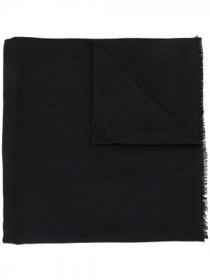 Легкий шарф с бахромой Brioni. Цвет: синий
