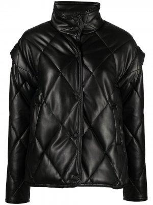 Стеганая куртка Liliane Apparis. Цвет: черный