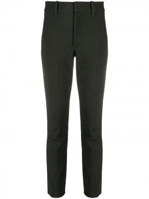Укороченные брюки средней посадки Vince. Цвет: зеленый