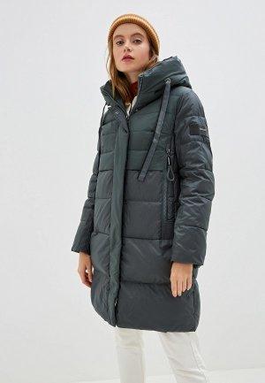 Куртка утепленная Clasna. Цвет: зеленый