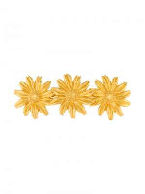 Заколка для волос в виде цветов Kenzo Vintage. Цвет: металлик