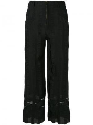 Укороченные брюки Philosophy Di Lorenzo Serafini. Цвет: черный