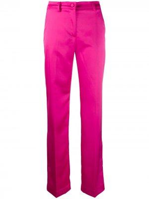 Прямые брюки строгого кроя Hebe Studio. Цвет: розовый