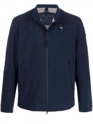 Легкая куртка на молнии Blauer. Цвет: синий