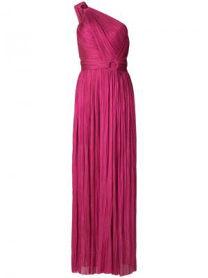 Вечернее платье на одно плечо Maria Lucia Hohan. Цвет: розовый