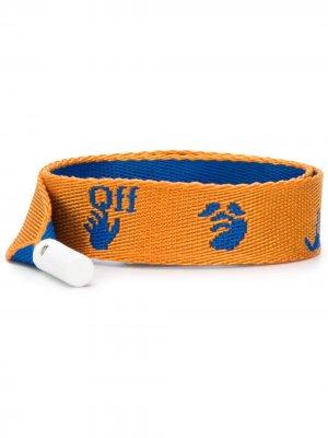Шнурки с логотипом Off-White. Цвет: синий