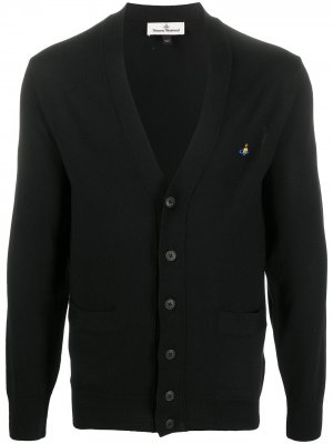 Кардиган с вышитым логотипом Vivienne Westwood. Цвет: черный