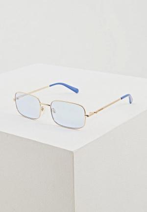 Очки солнцезащитные Love Moschino. Цвет: золотой