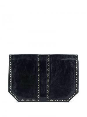 Клатч с перфорацией Yves Saint Laurent Pre-Owned. Цвет: черный