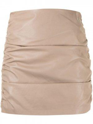 Мини-юбка со сборками Michelle Mason. Цвет: нейтральные цвета
