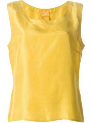 Свободный топ Christian Lacroix Vintage. Цвет: желтый