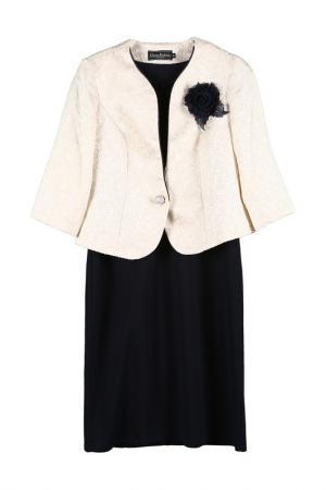 Комплект: жакет, платье Classic Fashion. Цвет: синий