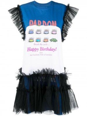 Платье-футболка мини Up-Made II Viktor & Rolf. Цвет: черный