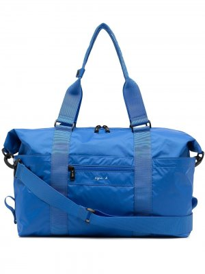 Дорожная сумка с логотипом agnès b.. Цвет: синий