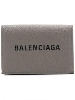 Everyday mini wallet Balenciaga. Цвет: серый