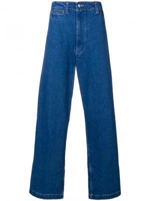 Широкие джинсы E. Tautz. Цвет: синий