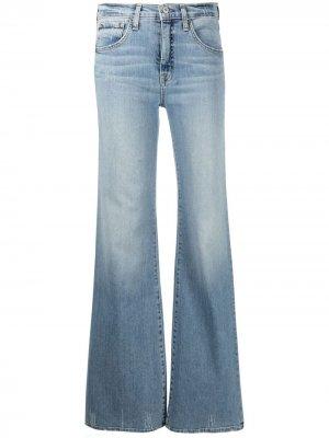 Расклешенные джинсы с завышенной талией Nili Lotan. Цвет: синий