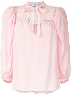 Блузка с кружевными вставками Giambattista Valli. Цвет: розовый