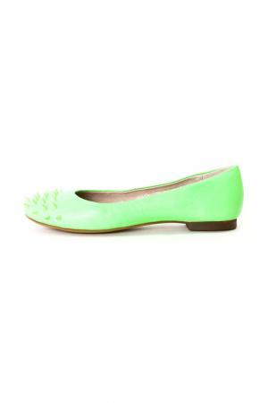 Балетки Calipso. Цвет: зеленый