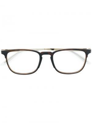 Очки в квадратной оправе Carrera. Цвет: коричневый