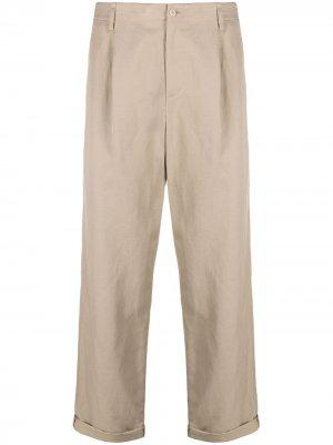 Прямые брюки чинос с подворотами Neil Barrett. Цвет: нейтральные цвета