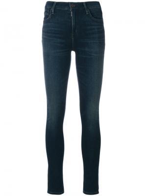 Выцветшие джинсы скинни Citizens Of Humanity. Цвет: синий