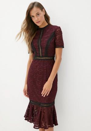 Платье Chi London. Цвет: фиолетовый