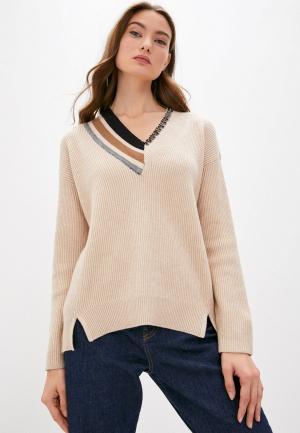 Пуловер Twinset Milano. Цвет: бежевый
