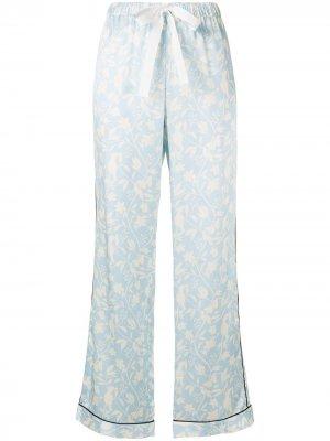 Пижамные брюки Parker Morgan Lane. Цвет: синий