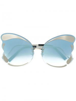 X Linda Farrow солнцезащитные очки Matthew Williamson. Цвет: металлик