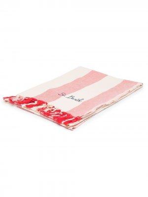 Пляжное полотенце Fouta в полоску Mc2 Saint Barth. Цвет: красный