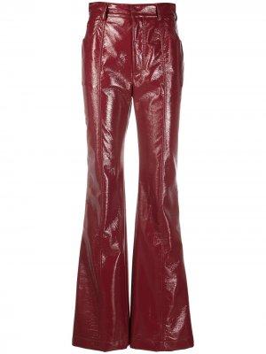 Расклешенные брюки с завышенной талией Philosophy Di Lorenzo Serafini. Цвет: красный