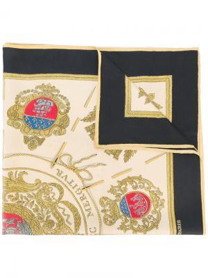 Шарф с принтом Hermès Vintage. Цвет: черный