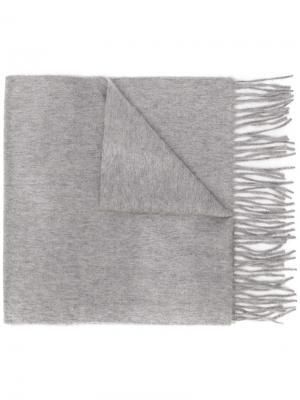 Шарф с бахромой Begg & Co. Цвет: серый