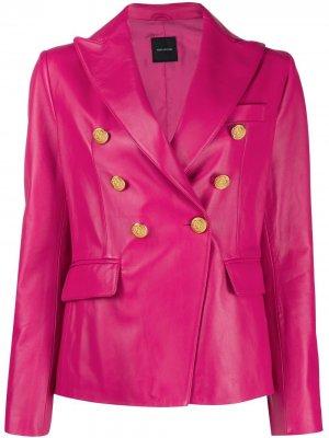 Двубортная куртка Tagliatore. Цвет: розовый