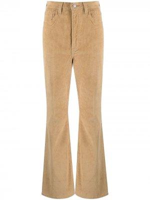 Levis расклешенные брюки с завышенной талией Levi's. Цвет: коричневый