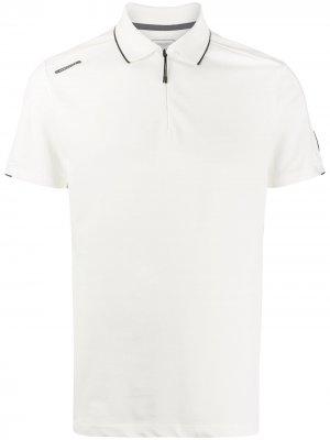 Рубашка поло c воротником на молнии Hackett. Цвет: белый