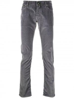 Вельветовые брюки Jacob Cohen. Цвет: серый