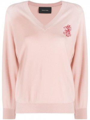 Джемпер с вышитым логотипом Simone Rocha. Цвет: розовый