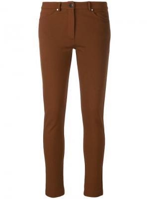 Skinny trousers D.Exterior. Цвет: коричневый